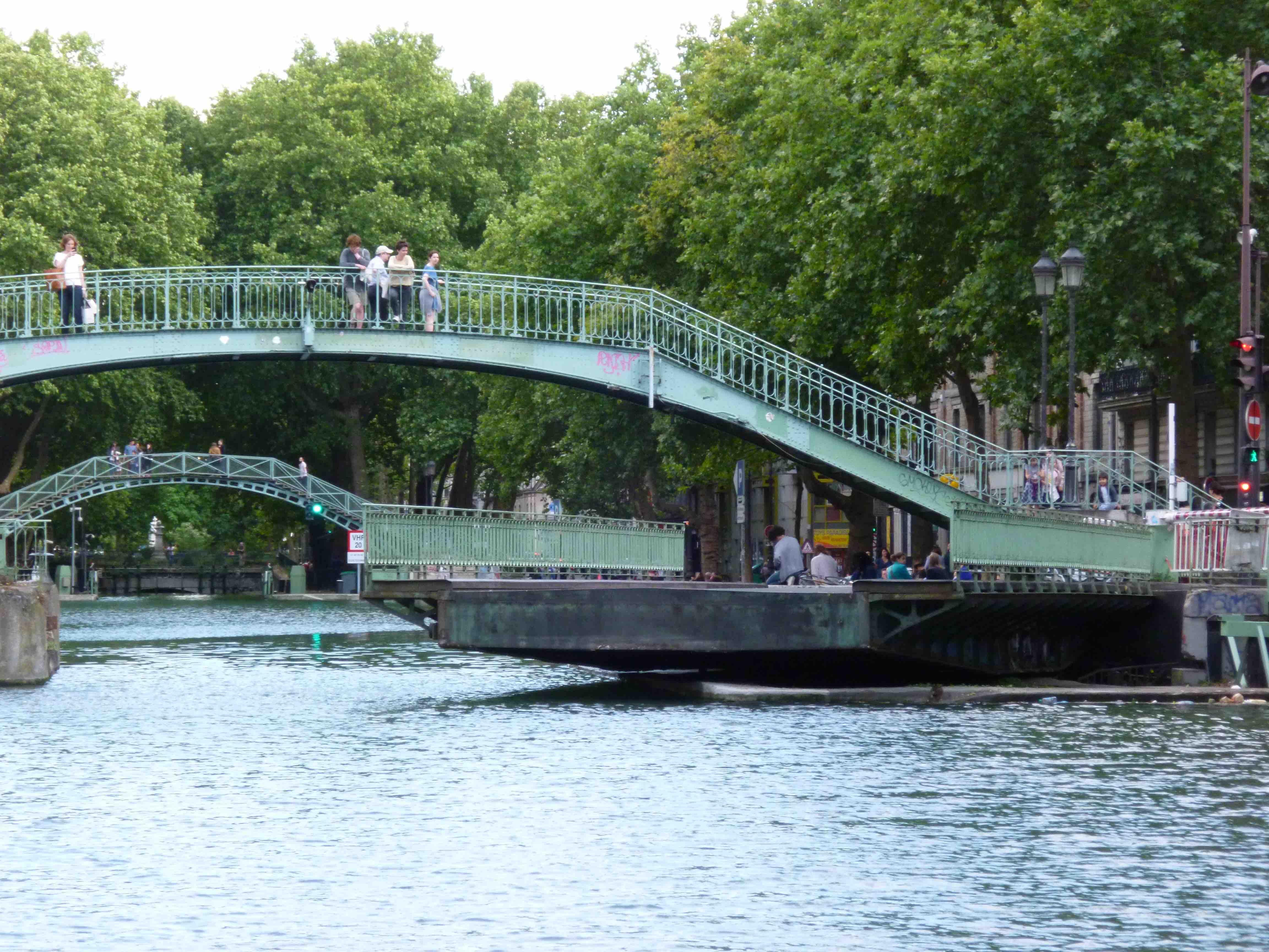Pont tournant de la rue Dieu