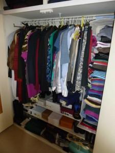The 'before' shot - my wardrobe bursting at the seams!
