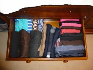 Gym kit, shorts and swimwear drawer