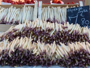 White asparagus - a rare sight where I live